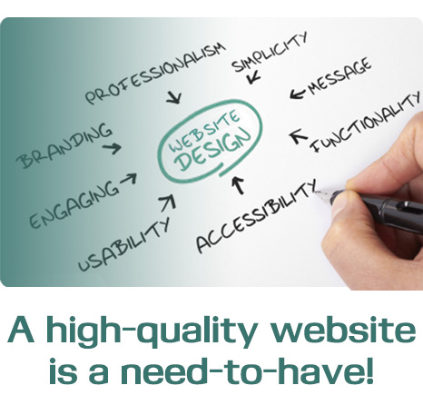 A high-quality website is a need-to-have!